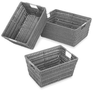 Whitmor Whitmor, Inc Rattique 3 Piece Basket Set