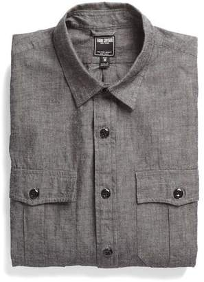 Todd Snyder Chambray Military Shirt in Black