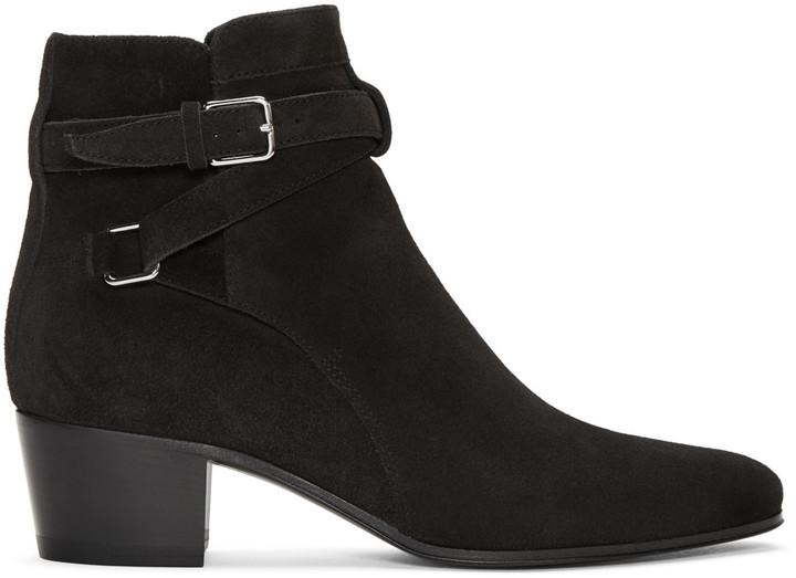 Saint Laurent Black Jodhpur Boots