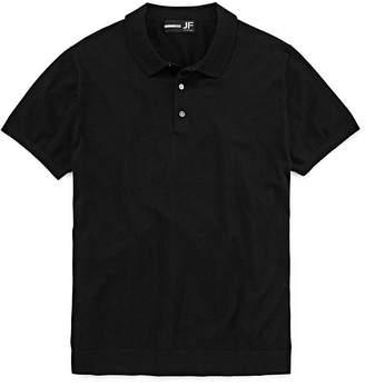 Jf J.Ferrar Jf Casualization Short Sleeve Woven Polo Shirt