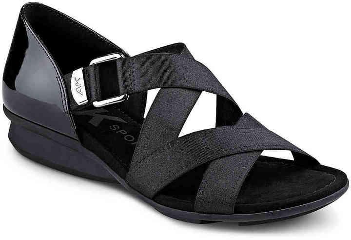 Anne KleinWomen's Kanelle Wedge Sandal -Black