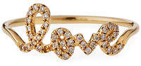 Sydney Evan 14k Gold Diamond Love Script Ring