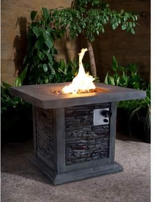 Gracie Oaks Bettine Stone Propane Fire Pit Table