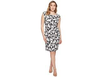 Lauren Ralph Lauren Plus Size Koriza Montero Floral Matte Jersey Dress Women's Dress