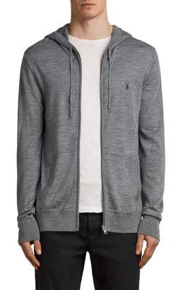 AllSaints Mode Slim Fit Merino Wool Zip Hoodie
