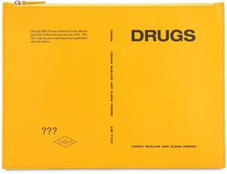 Raf Simons Drugs Printed Zip Leather Pouch