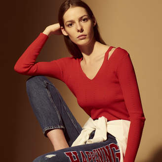 Sandro Sweater with cut-outs on the shoulders
