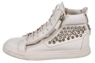 Giuseppe Zanotti Leather Spike Sneakers