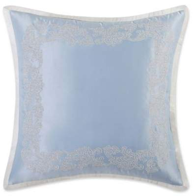 Home Harmony European Pillow Sham in Blue/Silver