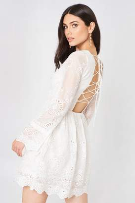 Glamorous Long Sleeve Lace Mini Dress