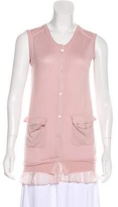 Miu Miu Cashmere and Silk-Blend Vest