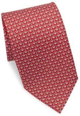 Salvatore Ferragamo Silk Anchor Tie