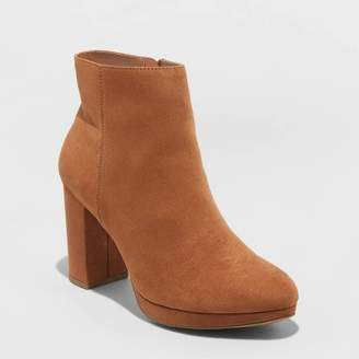 A New Day Women's Daisy Microsuede Platform Bootie