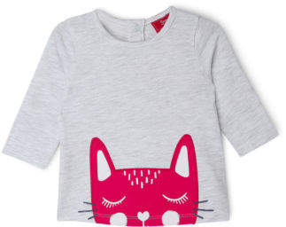 Sprout NEW Girls Applique Top Grey Marle