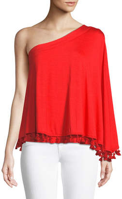 Trina Turk Pomona Tassel Top in Must-Have Jersey