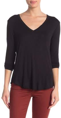 Double Zero V-Neck Long Sleeve Top