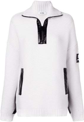 Courreges Vynil chunky knit sweater
