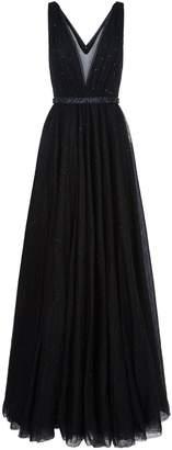 Jenny Packham Glitter Embellished Tulle Gown