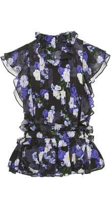 Marissa Webb Florence Silk Print Top