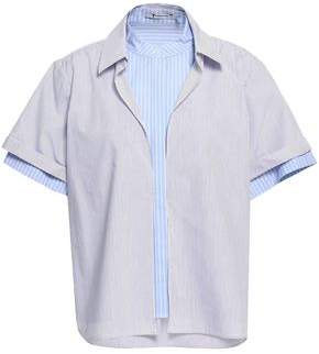 Alexander Wang Striped Cotton-blend Poplin Shirt