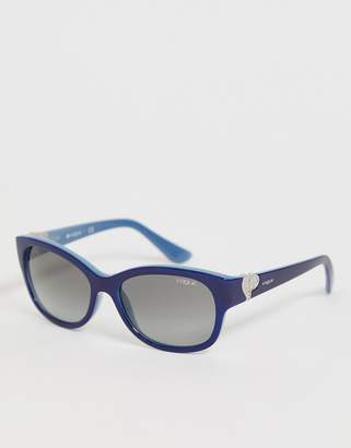 Vogue square sunglasses in navy