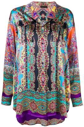 Etro mixed print oversize shirt