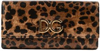 Dolce & Gabbana Leopard Continental Wallet