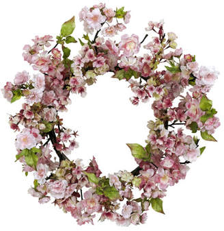 Nearly Natural Cherry Blossom Wreath