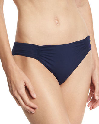 L Space Swimwear by Monica Wise Monique Ruched-Side Swim Bottom $70 thestylecure.com