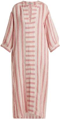 THREE GRACES LONDON Mayella striped linen-blend kaftan