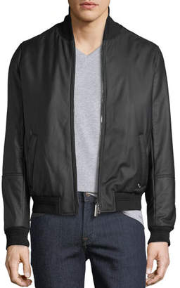 Stefano Ricci Men's Leather Jacket with Cashmere Trim