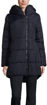 Liz Claiborne Woven Hooded Water Resistant Heavyweight Puffer Jacket