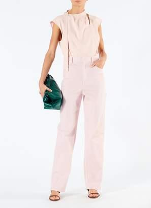 Tibi Spring Garment Dyed Denim Carpenter Jean
