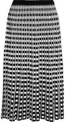 Derek Lam 10 Crosby Pleated Jacquard-Knit Midi Skirt