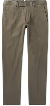 Ralph Lauren Purple Label Eaton Slim-Fit Stretch Lyocell And Cotton-Blend Twill Trousers