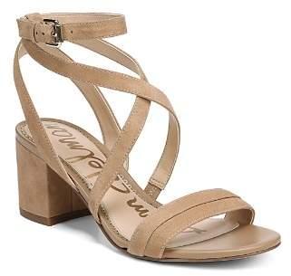 Sam Edelman Women's Sammy Suede Strappy Block Heel Sandals