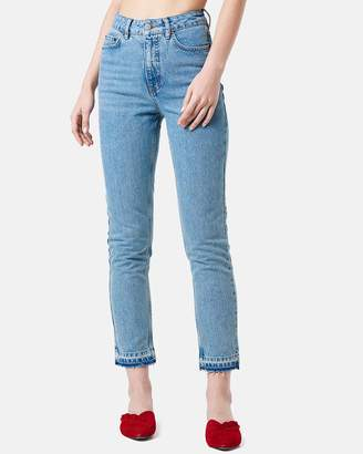 NA-KD Open Hem Denim Jeans