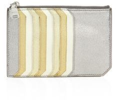 Miu Miu Miu Miu Madras Multicolor Metallic Leather Card Case
