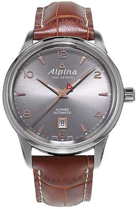 Alpina Alpiner Automatic AL525VG4E6 41.5mm Automatic Stainless Steel Case Brown Calfskin Anti-Reflective Sapphire Men's Watch