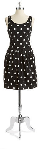 Betsey Johnson Polka Dot Fit and Flare Dress
