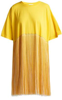Raey Fringed cotton-jersey dress