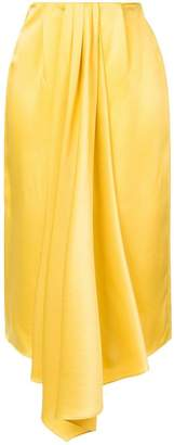 Tome draped pleated skirt