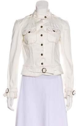 L.A.M.B. Contrast-Stitched Denim Jacket