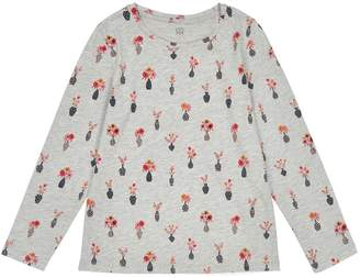La Redoute COLLECTIONS Long-Sleeved Floral Print T-Shirt, 3-12 Years