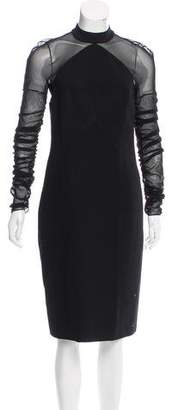 Balenciaga Long Sleeve Midi Dress