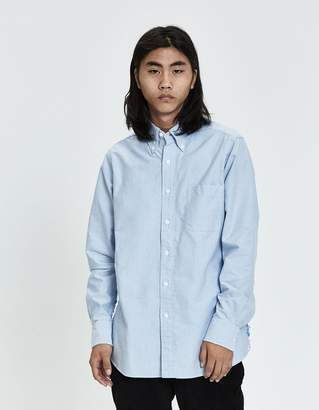 Rowing Blazers Busted-Seam Oxford Shirt in Blue