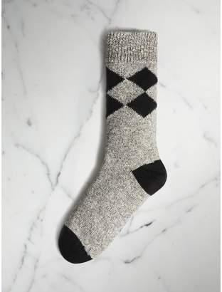 Burberry Diamond Knitted Cotton Mouliné Socks