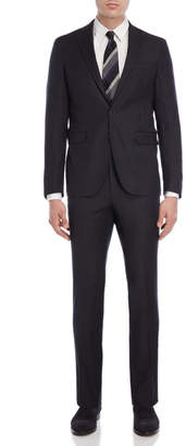 Cole Haan Two-Piece Charcoal Box Check Suit