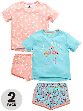 Very Pack of Two Flamingo Pjs in Multi Size 15-16 Years
