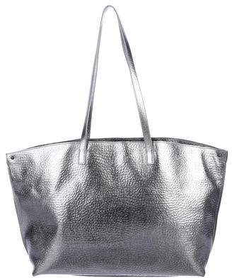 Akris Metallic Leather Tote